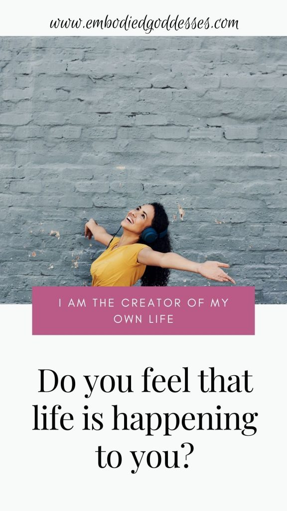 Do you feel stuck sometimes? Like life is a ride that you're on and you just have to wait for the next stop to get off? It is in these moments that its most important to remember that you are the creator of your own life.