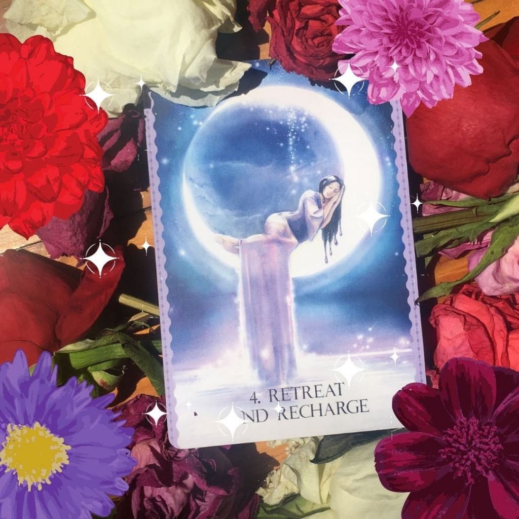 retreat and recharge oracle card